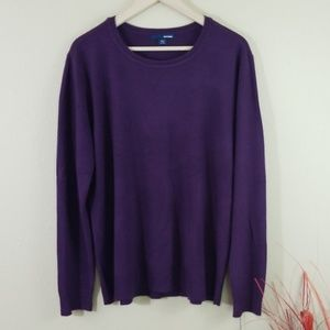 Basic Editions Lavender Crewneck Pullover Sweaters